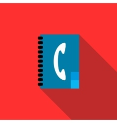 Address book icon flat style vector