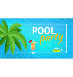 banner or flyer for summer beach party aloha vector image vector image