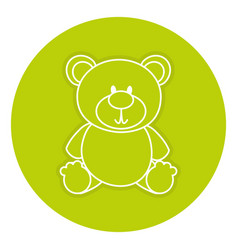 bear teddy isolated icon vector image