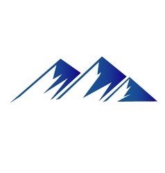 Blue mountains logo vector image vector image