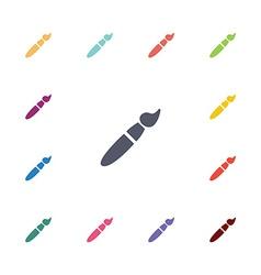 brush flat icons set vector image