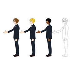 Business man hand shake vector