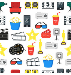 cartoon cinema color background pattern on a white vector image vector image