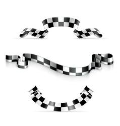 Checkered ribbons vector image vector image