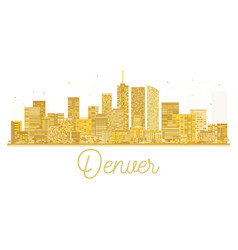 denver usa city skyline golden silhouette vector image