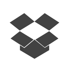 Dropbox vector image vector image