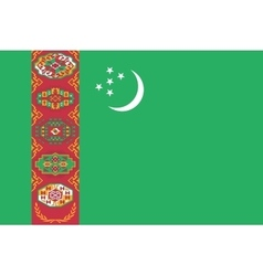 Flag of Turkmenistan correct size colors vector image vector image