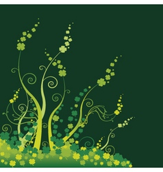 floral green vector image vector image