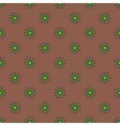 Flowers geometric seamless pattern 5107 vector image