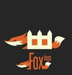 fox logo 6 vector image vector image