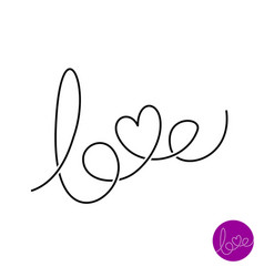 love letters text logo vector image vector image