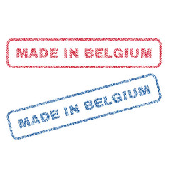 Made in belgium textile stamps vector