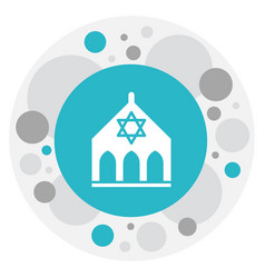 Of faith symbol on synagogue vector