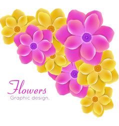Realistic flowers vector