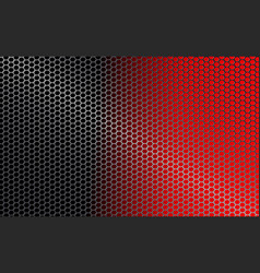 red black geometric background with metal grille vector image