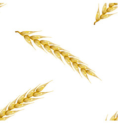 seamless background with wheat spikelets vector image