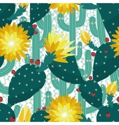 Seamless cactus background vector image vector image