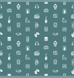 Seamless gadgets background texture vector