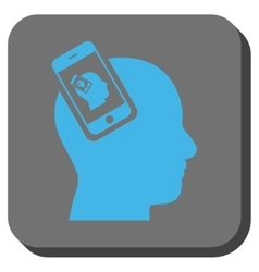 Smartphone head plugin recursion rounded square vector