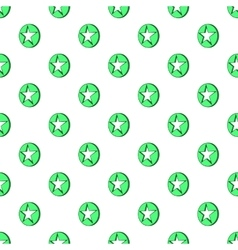 Star in circle pattern cartoon style vector