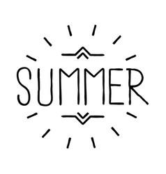 summer emblem retro hipster emblem vector image vector image