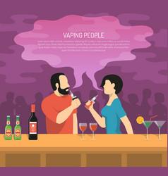 Vapor electronic cigarettes smoking poster vector