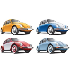 vintage classic vw beetle vector image