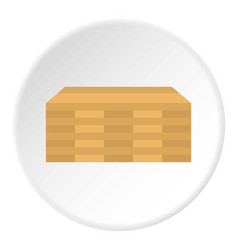 wooden boards icon flat style vector image vector image