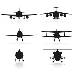 set icons airplane 02 vector image