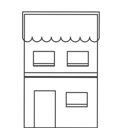 Single building icon vector