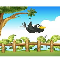 A bird in the garden vector image