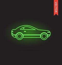 Neon Car Icon vector image