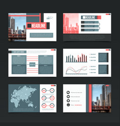 Urban presentation templates set vector