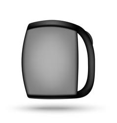 Metallic electric kettle vector
