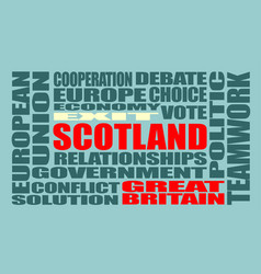 Scotland exit from united kingdom vector