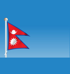 flag of nepal vector image