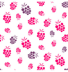 Raspberry pink and purple seamless pattern on vector