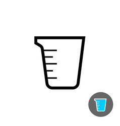 Measuring cup empty icon vector
