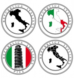 italian stamp vector image