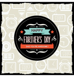 Poster happy farthers daytypography vector