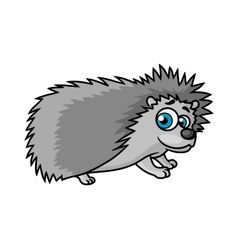 Gray smiling hedgehog character vector