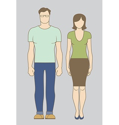Caucasian couple vector