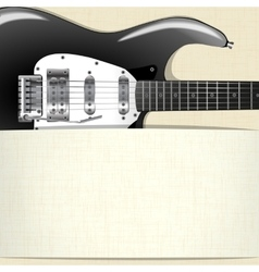 rock music background with guitar and a horizontal vector image