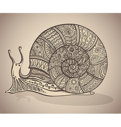 Ornamental snail with a lot of detail vector
