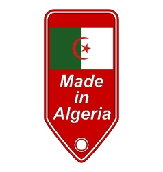Made in algeria icon vector
