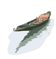 gondola watercolor style vector image