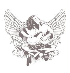 music emblem vector image