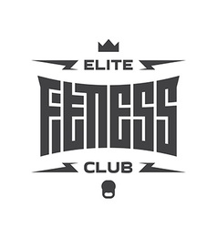 Elite fitness club - emblem or logo with original vector