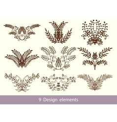 Set of hand drawn doodle design elements vector