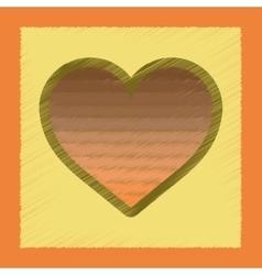 Flat shading style icon rainbow heart vector